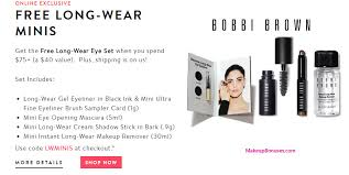 receive a free 4 pc gift with your 75 bobbi brown purchase