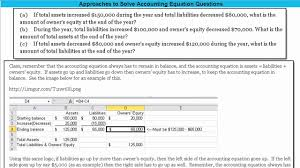 hints to solve accounting equation questions