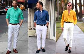 Pants Shirt How To Wear White Trousers Modern Mens Guide