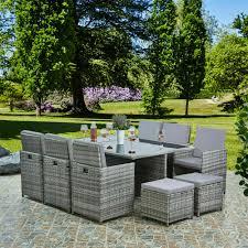 11pc cube rattan garden furniture