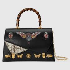 gucci bags fall 2017. gucci \u0027ottilia\u0027 bg featuring a bamboo handle and insect detailing from the fall 2017 collection. bags