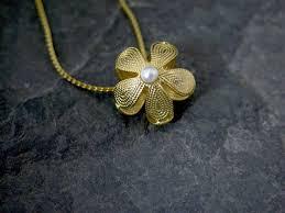 wedding flower girl necklace gold