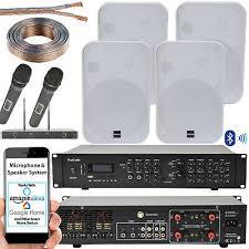 800w bluetooth sound system 4x white