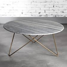 Gold Legged Marble Coffee Table