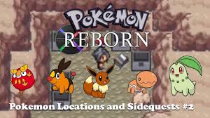 Pokemon Reborn Sidequest 2: Eevee, Darumaka, Chikorita, Tepig, and Trapinch  by Black117