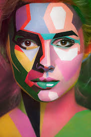 make up optical illusion face painting 5