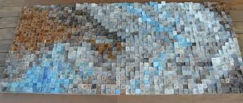 large 30 x 60 inch abstract wood art