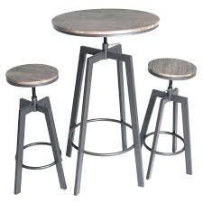 pub bar table set bar top table sets round wood top metal bar bistro 3 piece