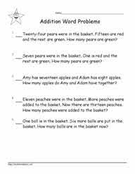 Explore fun online activities for 1st graders covering math, ela, science, & more! Grade 1 Word Problems Worksheets