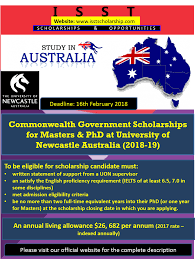 Commonwealth Governments Scholarships at University of Newcastle