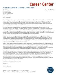 Cover Letter For Graduate Student Internship Graduate