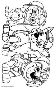 Paw Patrol Coloring Sheets Printable With Print Paw Patrol Rocky And