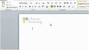 How To Insert A Logo In Your Letterhead Using Microsoft Word 2010