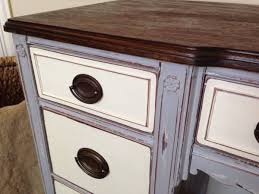 what color to paint furniture. The Contrasting Colors On This Piece Are Still Pretty Stark, But Subtle Distressing And Solid Wood Top Anchor Color Scheme Add Elegance. What To Paint Furniture 2