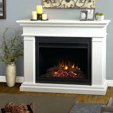 ... Chateau Corner Electric Fireplace White 41 In Lowes Real Flame  Freestanding Fireplaces ...