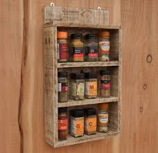 Cupboards Made From Pallets Rustic Spice Shelf Kitchen Spice Rack Cabinet Made From