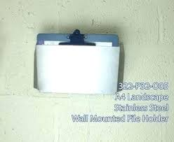 metal wall file holder. Wall Mounted File Holder Metal Food Safe Detectable Scoops