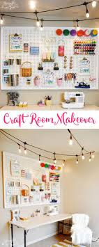 craft room makeover with café lights ad enbrightenlife jascos