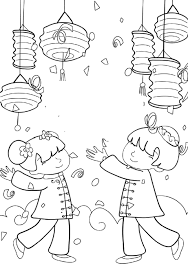 Small Picture Kids Celebrate Chinese New Year Colouring Pages Chine