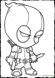 Small Picture Deadpool Coloring Pages Pdf