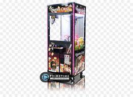 Crane Vending Machines Mesmerizing Vending Machines Claw Crane Redemption Game Crane Png Download
