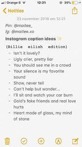 Billie Eilish Edition Captions Instagram Sprüche Sprüche