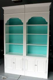 Valspar Turquoise Spray Paint Diy Design Fanatic Transforming Outdated Bookcases From Ugly To
