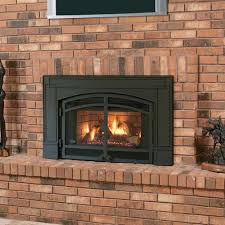 napoleon natural gas fireplace insert with arched cast iron surround and door kit fireplace want to turn your drafty fireplace into an efficient heat