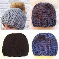 Free Crochet Pattern For Messy Bun Hat Unique Crochet Mommy And Me Messy Bun Hats Crochet Love Pinterest