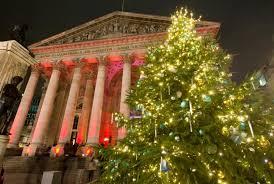 christmas lighting decoration.  christmas royal exchange with christmas lighting decoration