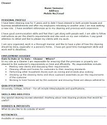 Cleaner CV Example Icoverorguk Gorgeous Cleaner Resume