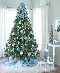 Christmas Tree Decorations Ideas with Blue Shades