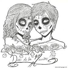 Small Picture Print skull sugar couples love coloring pages SUGAR SKULL