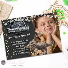 Jurassic Park Invitations Jurassic World Birthday Invitation Printable Dinosaur Invitation Jurassic Invitation