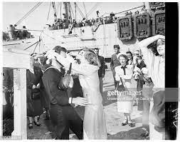 Arrival of USS 'Juneau' , May 1, 1951. Mrs Lloyd Cantrell;Miss... News  Photo - Getty Images