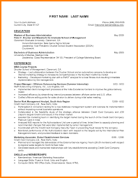 Mba Resume Pdf Examples For Fresher Hr Format Download Sample