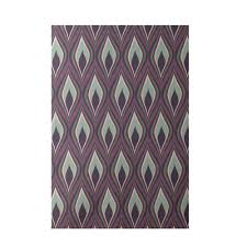 fancy purple outdoor rug e design purple indooroutdoor area rug reviews wayfair