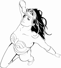 Female Superheroes Wonder Woman Oooo Coloring