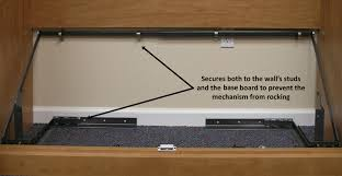 here to view an enlarged image of the floor saver mechanism the preferred and safest way to mount a murphy bed frame