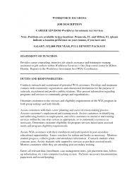 cover letter job description for a financial advisor job cover letter cover letter template for financial advisor sample resume exles academic advisorjob description for a