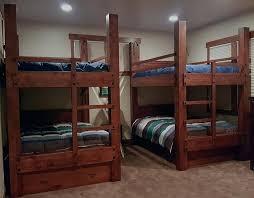 queen bunk bed custom tall queen over queen bunk beds shown with optional headboards goose neck