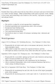 Resume Templates: Beer Sales