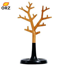 jewelry display stand holders plastic wood tree shape tray earring necklace target australia