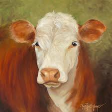 white face cow painting ms sophie cow painting by cheri wollenberg