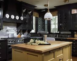wood black kitchen cabinets