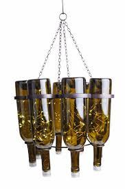 diy wine bottle chandelier attractive design ideas diy lighting fixtures creative throughout 14