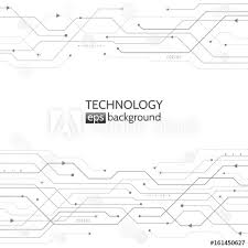 Circuit Board Texture On The White Background Abstract Digital