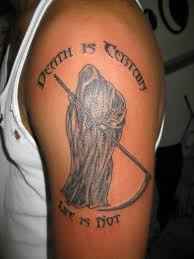 Death Grim Reaper Tattoo On Biceps Tattoo Bytes