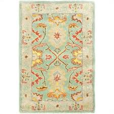 safavieh heritage accent rug in light blue ivory
