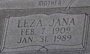 Leza Jana Gann Hunt (1909-1989) - Find A Grave Memorial